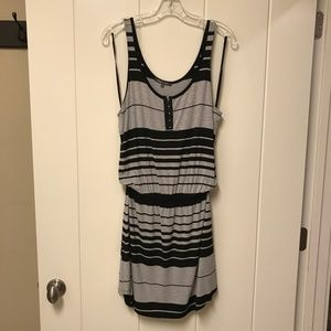Michael Stars Jenna Dress Gray Black Stripe M